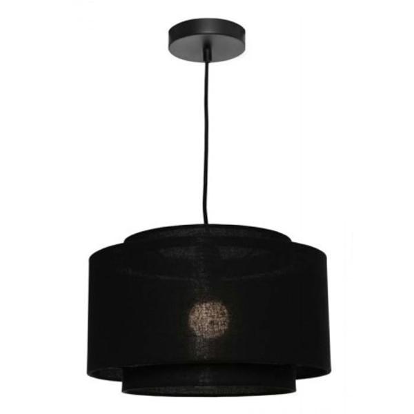 Bern 1 Light Pendant Black Medium