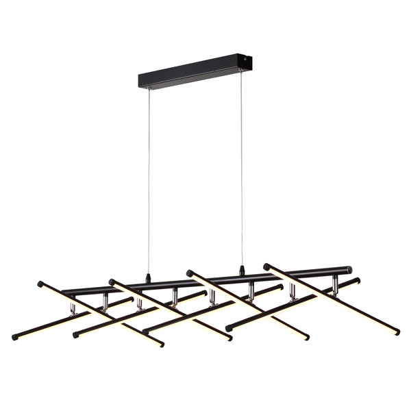 Metrix is a Large 8 Light Modern Contemporary Pendant with Unique Design and Heaps of Character. Includes is 8 x SMD LEDs with Steel Cable and Opal Acrylic Lenses. Dimmalbe through Compativle LED Dimmers.