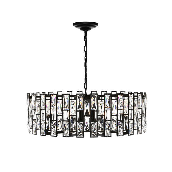 Porsha is an Elegant and Classy Black 8 Light Crystal Pendant Sure to Add Glamour and Style to Any Room.