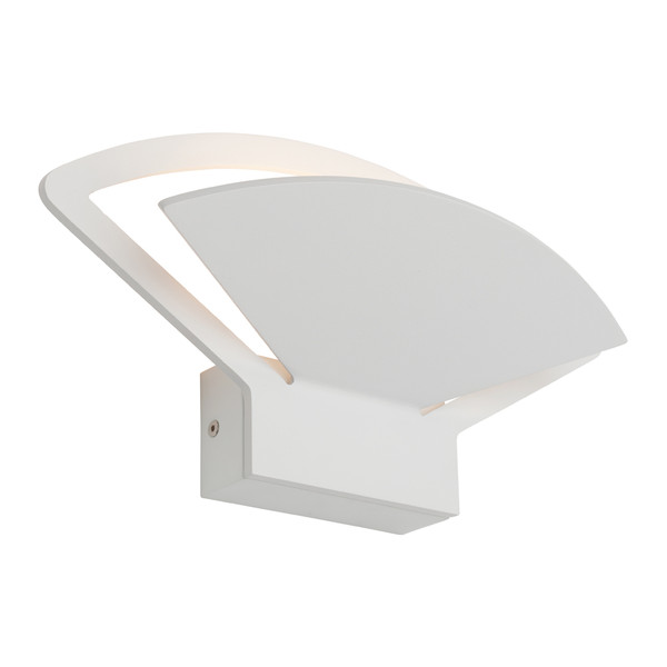An Attractive Fan Shaped LED Wall Light with Frost Acrylic Lens and Dedicated 12W LED. Perfect for Dining Rooms, Living Areas and  Hallways.