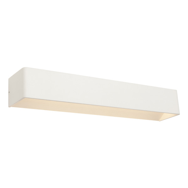 Pendtax is a Modern and Stylish Matt White LED Wall Light. Light Reflects Up and Down to Create a Comforting Atmosphere in Bedrooms, Hallways and Living Areas. Includes 6W LED with Warm White Light Output.
