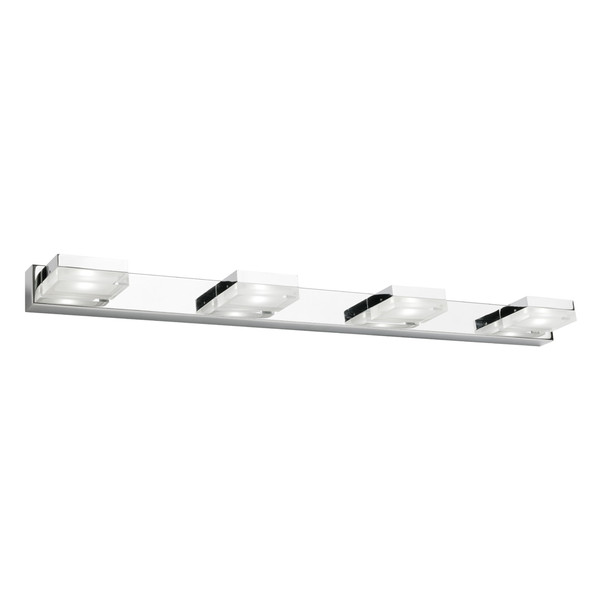 Cube is a Classy 4 Light LED Vanity Wall Light with Frosted Acrylic Lens and Chrome Finish. Perfect to Add a Touch of Style and Flare to Any Bathroom or Vanity Area. Includes 4 x 5W Integrated LED Lights in Cool White Light Output.