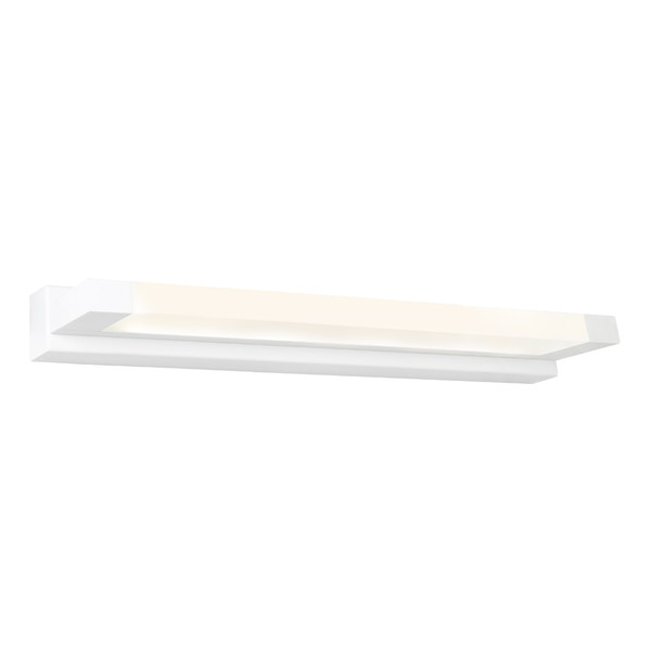 Extreme is a Very Smart Modern Vanity Wall Light Suitable for Bathrooms, Vanity Areas and Bedroom, Hallway or Living Room Walls. Featuring White Finish and Frosted Acrylic Lens with 12W LED Light.