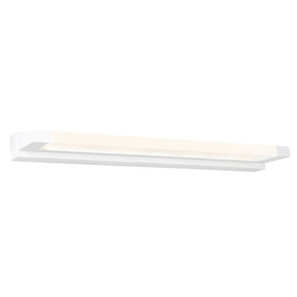 Extreme is a Very Smart Modern Vanity Wall Light Suitable for Bathrooms, Vanity Areas and Bedroom, Hallway or Living Room Walls. Featuring White Finish and Frosted Acrylic Lens with 18W LED Light.