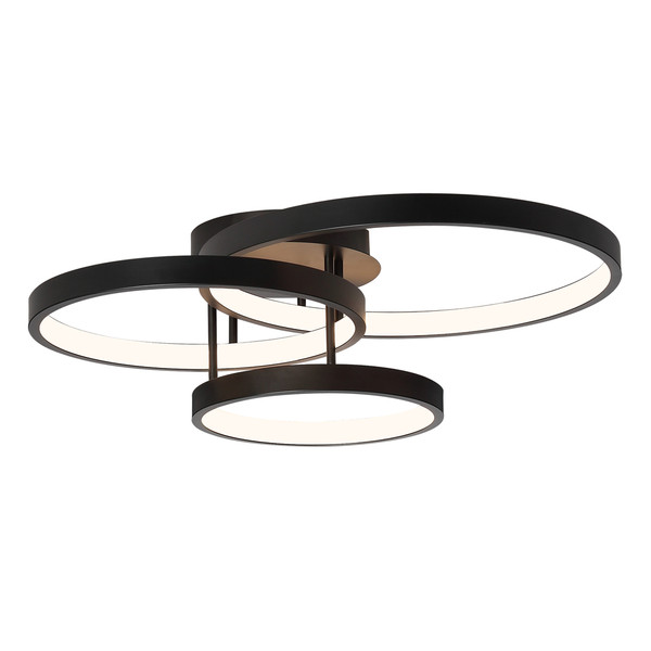 Zola is a Space Age Looking 3 Light LED Close to Ceiling Light with Black Finish. The Unique Shape and Dimension of Zola is Sure to Bring Interest to Any Room, Providing an Ideal Source of Ambient Light and Modern Design to Your Home.