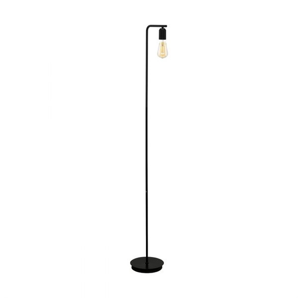 This floor luminaire of the ADRI 3 series is made of black powder-coated steel, and pairs perfectly with a vintage LED globe from our accessories range.