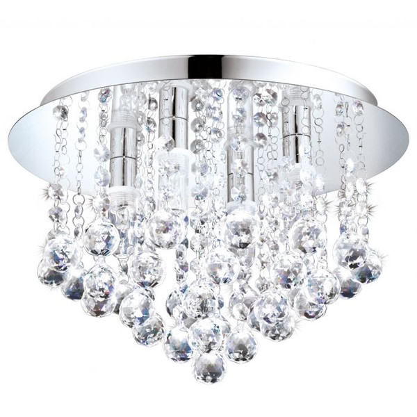 This ceiling luminaire from the ALMONTE series has a protection rating IP44 - making it perfectly suited to adding some bling to your bathroom!