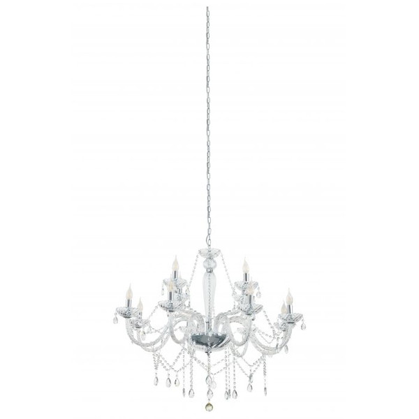 The BASILANO series comes in various pendant options and comes in traditional clear glass with chrome highlights.