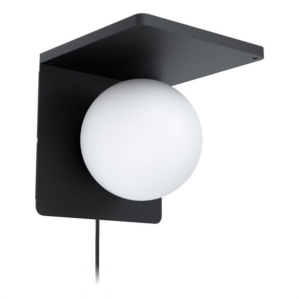 This wall luminaire comes with a wireless charging function to wirelessly charge Qi compatible devices. The soft light generated by the opal sphere light creates a subtle atmosphere. Also featuring flex & plug for DIY installation.
