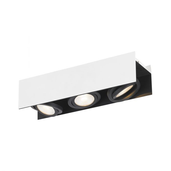 This three-head ceiling luminaire with its swivelling spot heads ensures elegant light accents in your living areas.