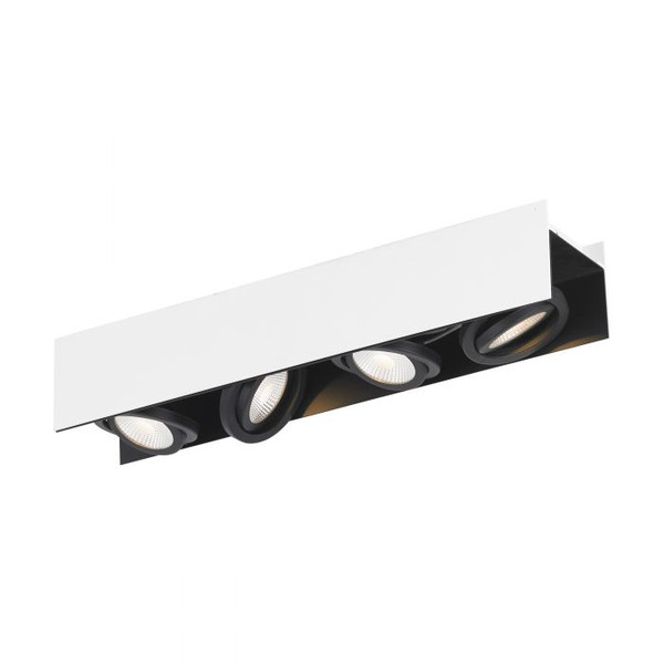 This four-head ceiling luminaire with its swivelling spot heads ensures elegant light accents in your living areas.