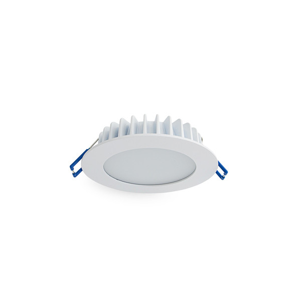 9W LED Downlight with Dimmable Driver and Flush Lens - Low Profile