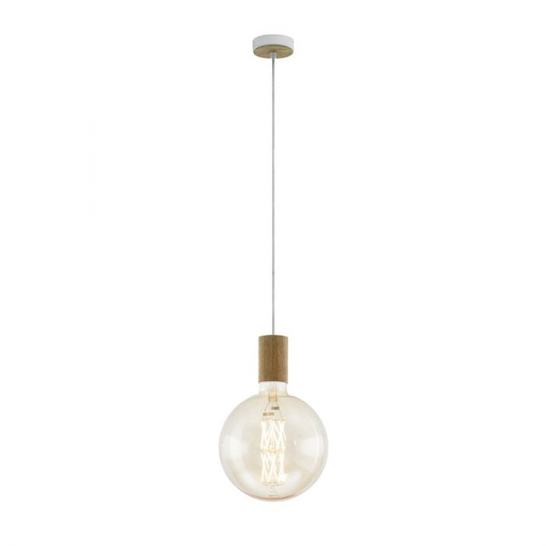 This pendant luminaire of the TAVISTOCK series features a wood look finish. Pair with an LED filament globe to complete the look.