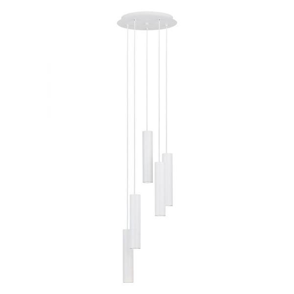The slim TERRASINI pendant range in white includes 4000K dimmable GU10 LED globes.