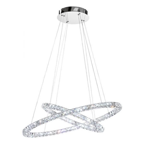 TONERIA Crystal LED Pendant Chrome