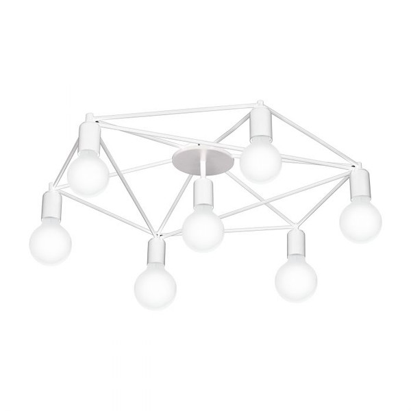 The ceiling luminaire of the STAITI series is made of white steel. Pair with LED filament globes to complete the look.
