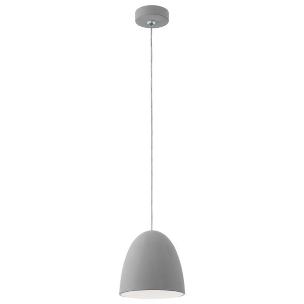 This pendant luminaire from the series PRATELLA is made of ceramic and is finished in a subtle grey tone.