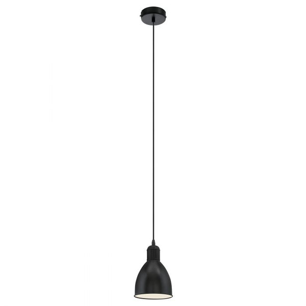 The PRIDDY range features an all black finish and metal shades for an industrial feel.