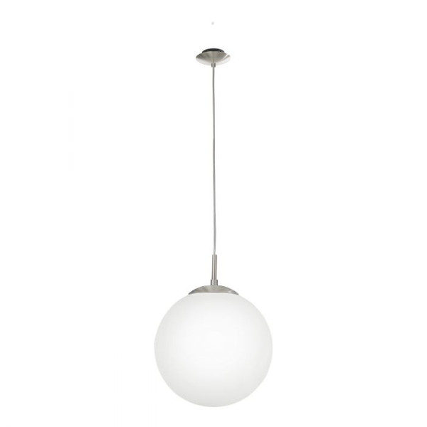 You can't beat a classic - the RONDO pendant is made of satin nickel finished steel and has a white, opal-matte glass.