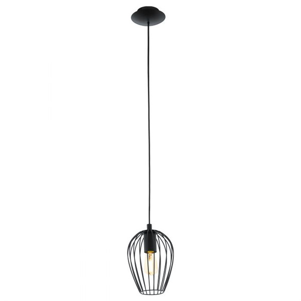 The NEWTOWN series combines an organically shaped wire shade with a striking black finish.