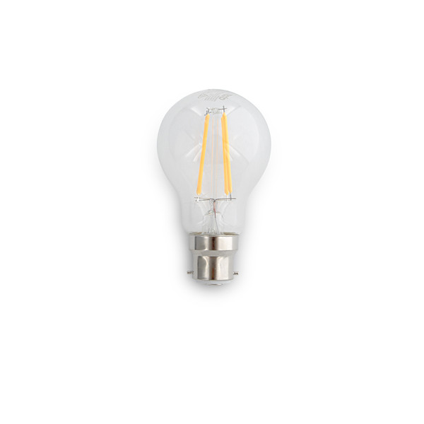8W A60 LED lamp. Dimmable. Clear lens