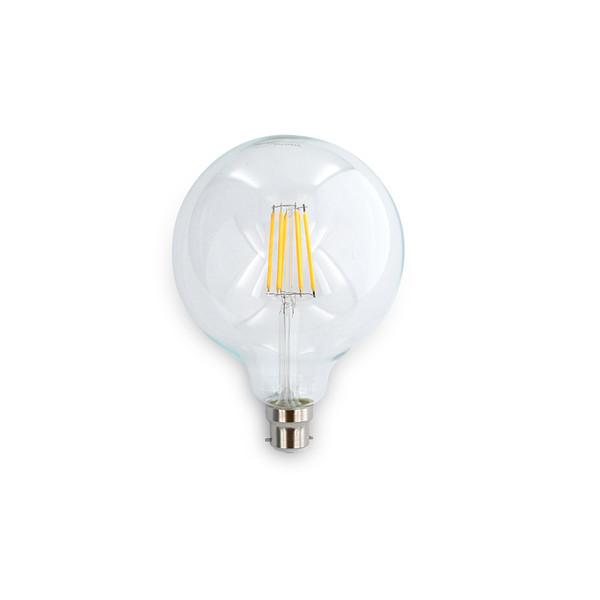 8W G120 LED Filament lamps. Dimmable, Clear lens