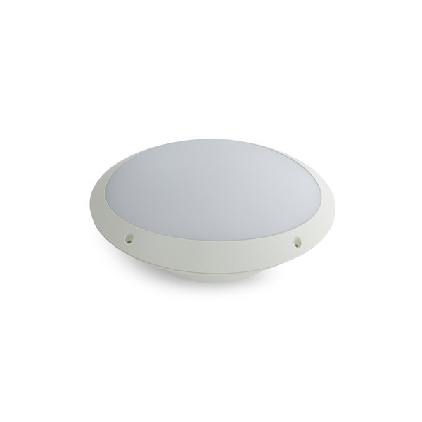 12W LED Oval and Round Bunker – Supplied with Eyelid Option White