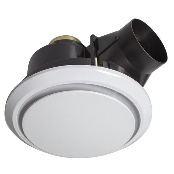 The Talon is a round exhaust fan with removable cover along with a whisper quiet ball bearing motor. Features easy installation clamps to secure fan into place, a 150mm side exhaust duct to prevent ceiling objects falling through and side damper. It requires a switched surface socket for DIY installation.