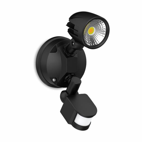 13W Security Spot W/Sensor IP54 Black