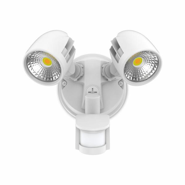 24W Twin Security Spot W/Sensor IP54 White