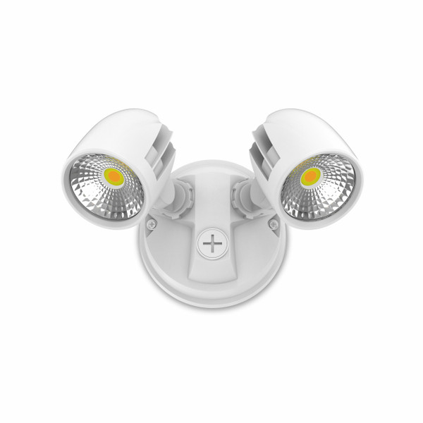 23W Twin Security Spot IP65 White
