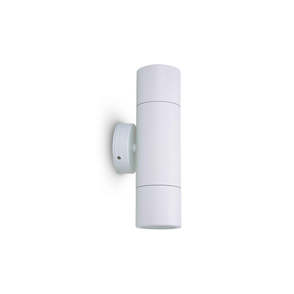 2 X 6W LED Up/Down exterior wall light with glass diffuser including LED lamps – GU10 White