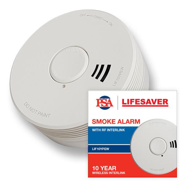 Lifesaver Sealed Wireless Photoelectric Smoke Alarm with Lifetime Battery
