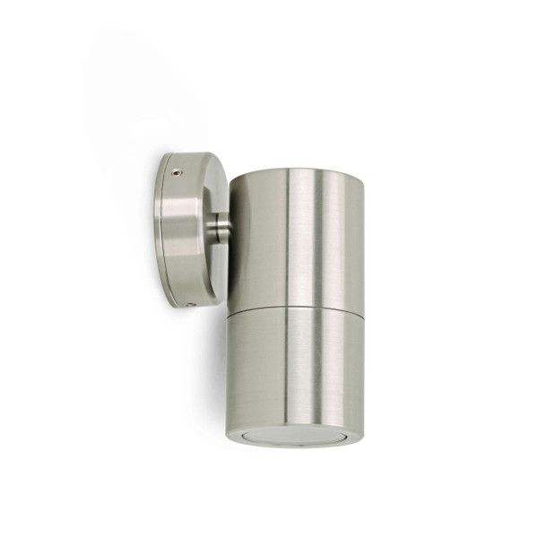 Fixed wall Spot with Glass Diffuser – GU10 LED Lamp Included Stainless