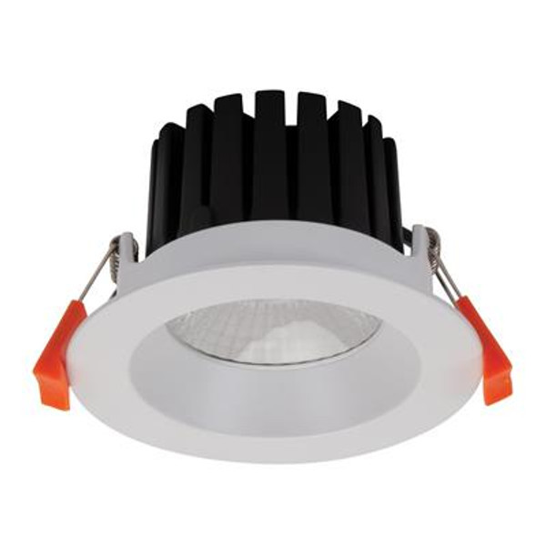 AQUA-13 Round 13W LED Dimmable Downlight - Satin WhiteFrame