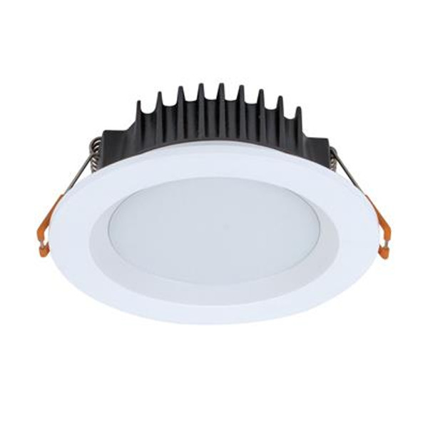 BOOST-10 Round 10W Dimmable Colour Change Switchable LED Downlight - White Frame