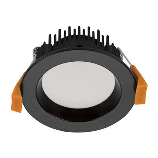 DECO-8 Round 8W Dimmable LED Downlight - Matt Black Frame