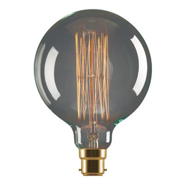 Tungsten 25W Carbon Filament G95 Sphere Shaped Lamp 240V - B22 or E27