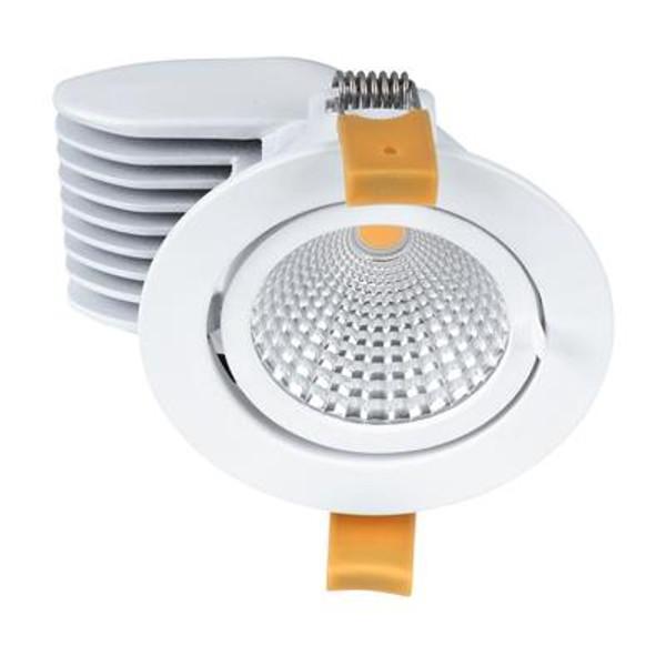 SCOOP-13 Round 13W Adjustable LED Downlight - Satin White