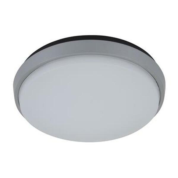 DISC-240 Round 20W Splashproof LED Ceiling Light - Silver Trim