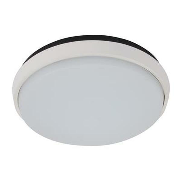 DISC-240 Round 20W Splashproof LED Ceiling Light - White Trim