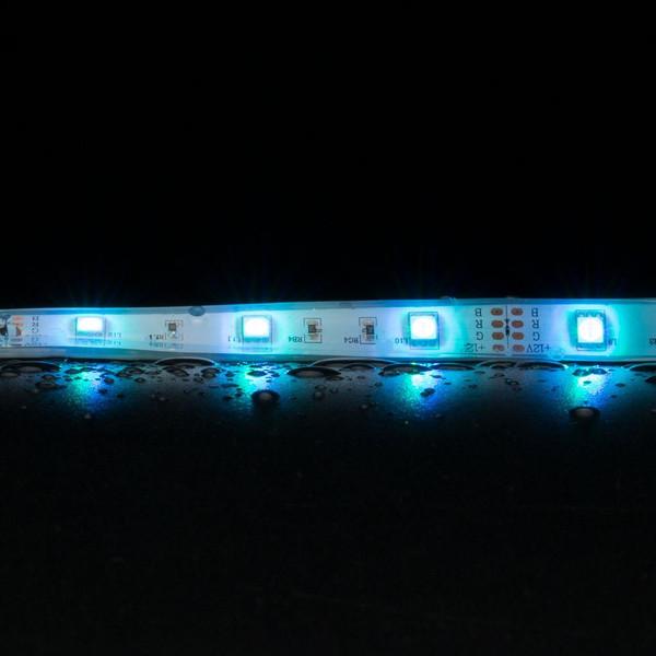 STRIP-30-RGB-WP Flexible 30 LED Weatherproof Strip - 7.2W 12V DC / RGB LED