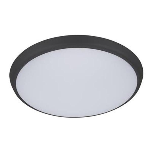 SOLAR-300 Round 25W Slimline LED Ceiling Light - Black Frame