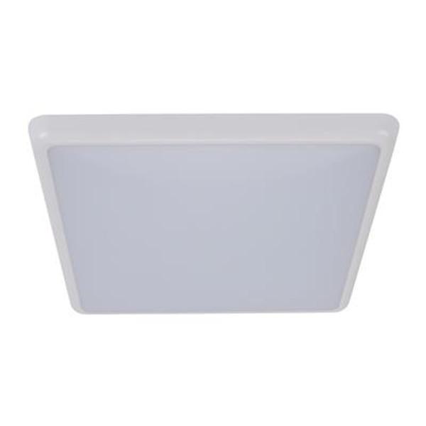 SOLAR-300-SQ Square 240V 25W 30cm Slimline LED Ceiling Light - White Frame