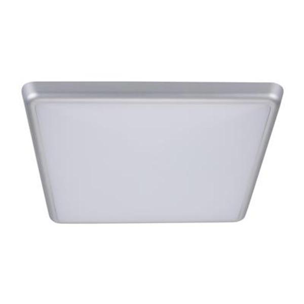 SOLAR-300-SQ Square 240V 25W 30cm Slimline LED Ceiling Light - Silver Frame