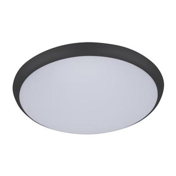 SOLAR-400 Round 35W Slimline LED Ceiling Light - Black Frame