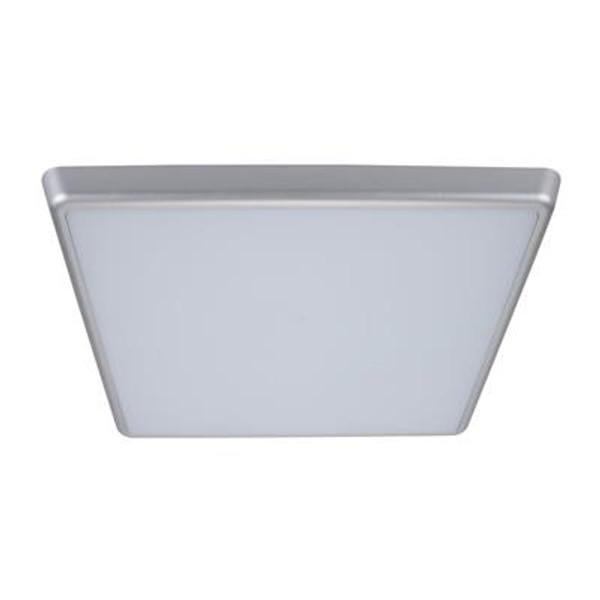SOLAR-400-SQ Square 240V 35W 40cm Slimline LED Ceiling Light - Silver Frame