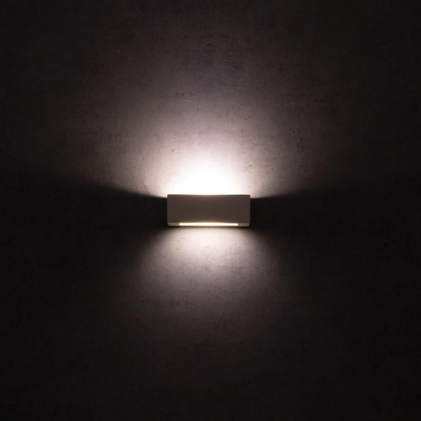 BF-2018 Ceramic 20cm Wall Uplight - Raw / G9