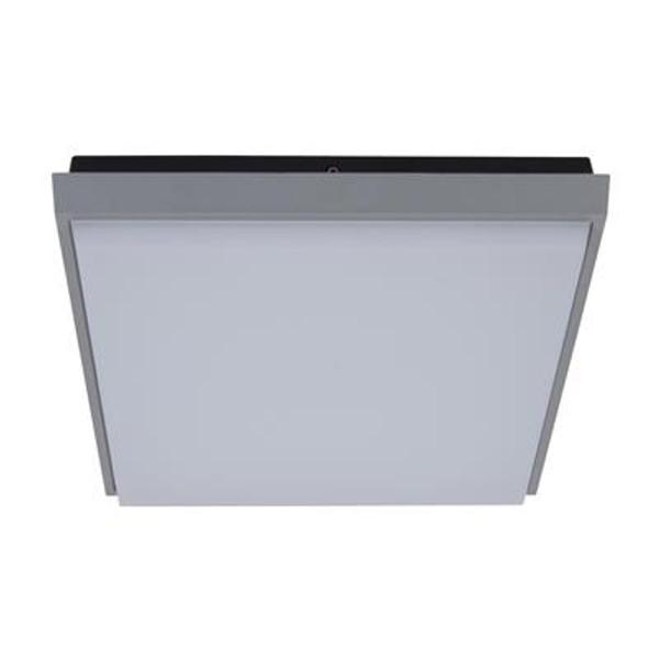 TAB-240 Square 20W Splashproof LED Ceiling Light - Silver Trim