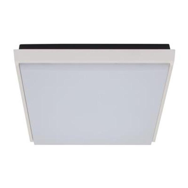 TAB-240 Square 20W Splashproof LED Ceiling Light - Satin White Trim